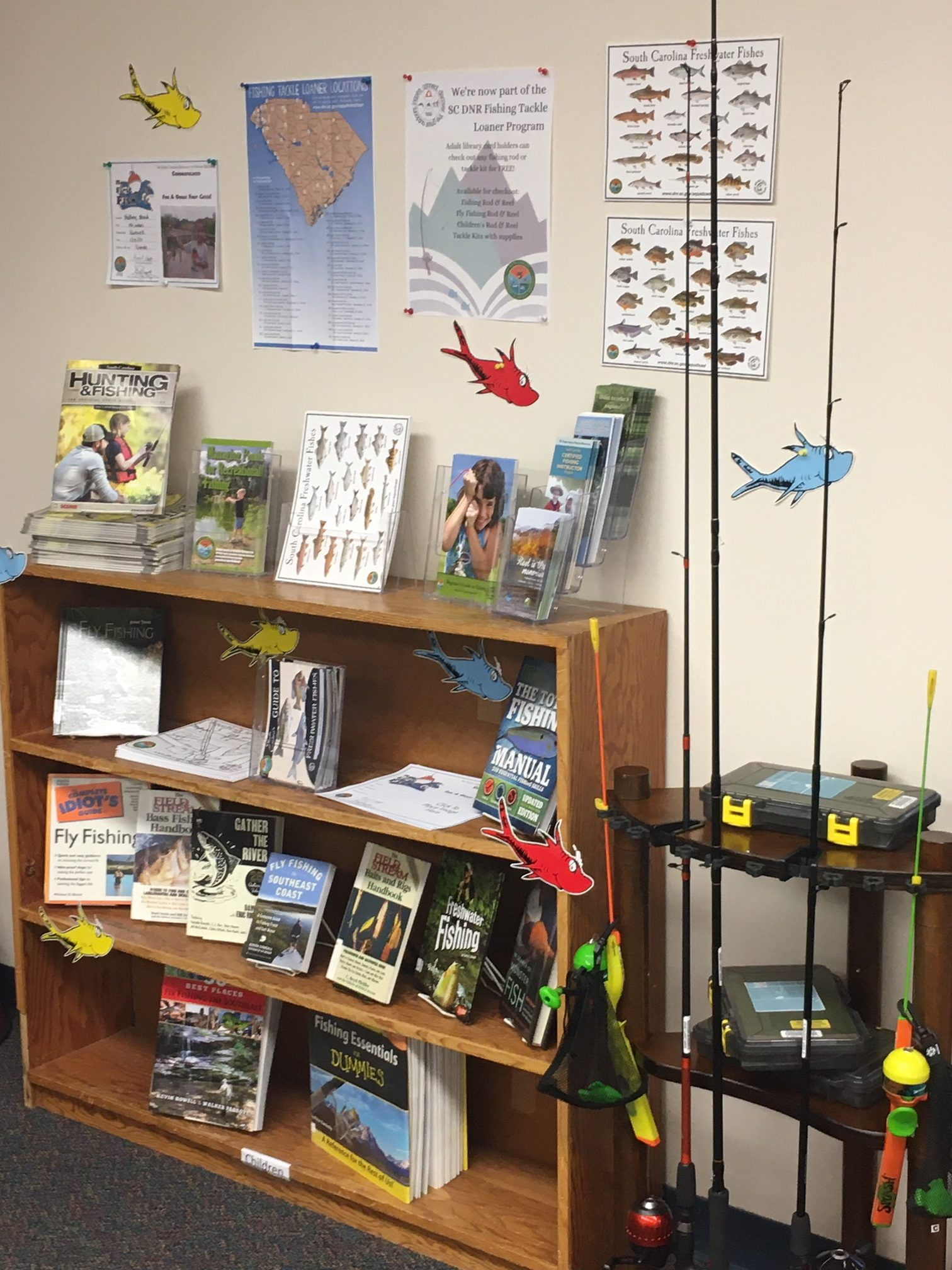 Westminster fishing gear and tackle display